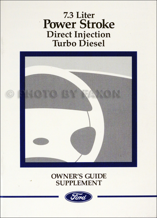 1999 Ford 7.3L Powerstroke Diesel Engine Owner's Manual Original Supplement