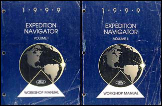 1999 Ford Expedition Lincoln Navigator Repair Shop Manual Original Set
