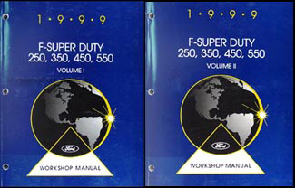 1999 Ford F-Super Duty 250 350 450 550 and Motorhome Repair Shop Manual Set
