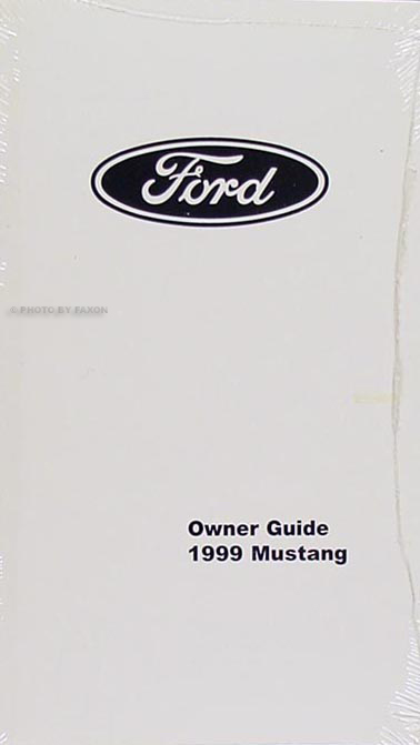 1999 Ford Mustang Owners Manual Factory Reprint