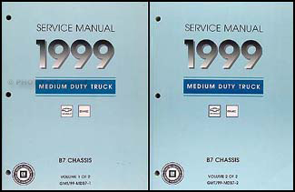 1999 Chevy/GMC B7 Bus Chassis Repair Manual Original 2 Volume Set