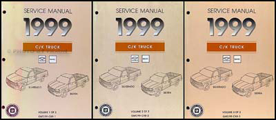 1999 Silverado & Sierra Repair Manual Original 3 Volume Set