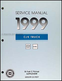 1999 C1500-3500 Bi-Fuel Pickup Shop Manual Original Supplement