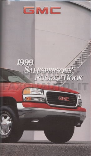 1999 GMC Pocket Facts Book Dealer Album Original
