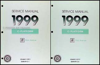 1999 Buick Park Avenue Repair Manual Original 2 Volume Set