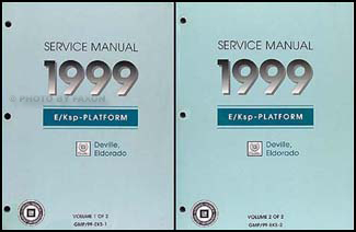 1999 Deville and Eldorado Repair Manual Original 2 Volume Set
