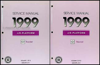 1999 Chevy Tracker Repair Manual Original 2 Volume Set