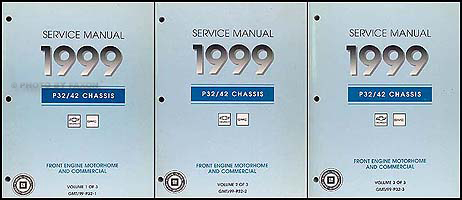 1999 P32 P42 Stepvan & Motorhome Chassis Repair Shop Manual Set Original