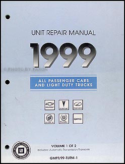 1999 GM Automatic Transmission Overhaul Manual Original