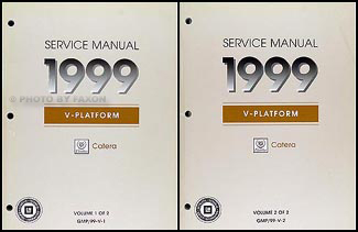 1999 Cadillac Catera Repair Manual Original 2 Volume Set