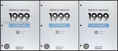 1999 Buick Regal & Century Repair Manual Original 3 Volume Set