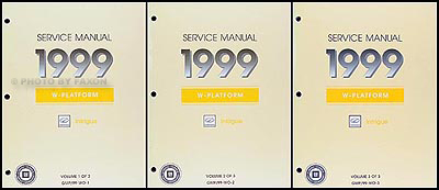1999 Oldsmobile Intrigue Repair Manual Original 3 Volume Set