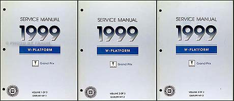 1999 Pontiac Grand Prix Shop Manual Original Set