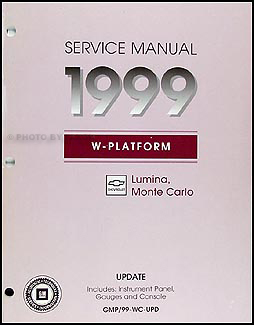 1999 Lumina & Monte Carlo DASH Repair Manual Original Supplement