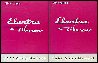 1999 Hyundai Elantra & Tiburon Shop Manual Original