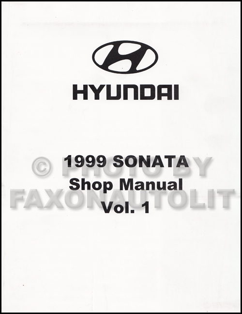 1999 Hyundai Sonata Shop Manual Original 2 Volume Set