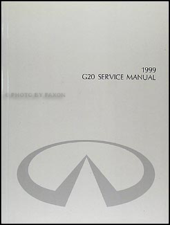 1999 Infiniti G20 Repair Manual Original
