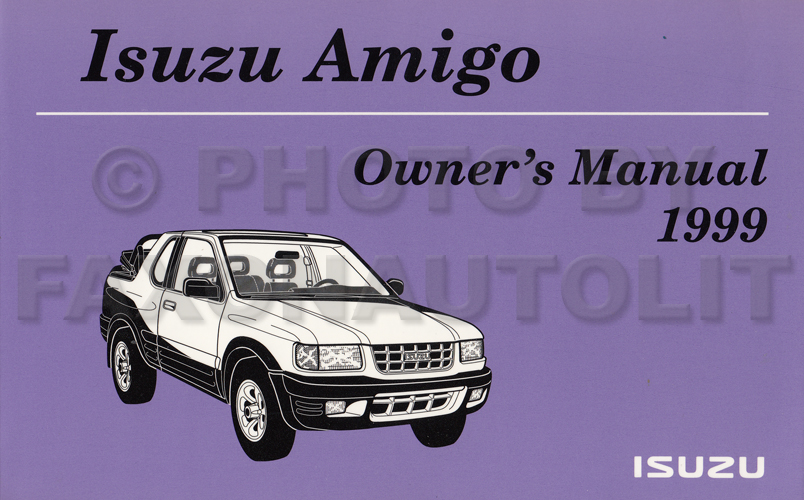 1999 Isuzu Amigo Owner's Manual Original