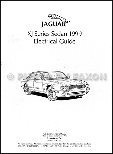 1999 Jaguar Xj8 Electrical Guide Wiring Diagram Original