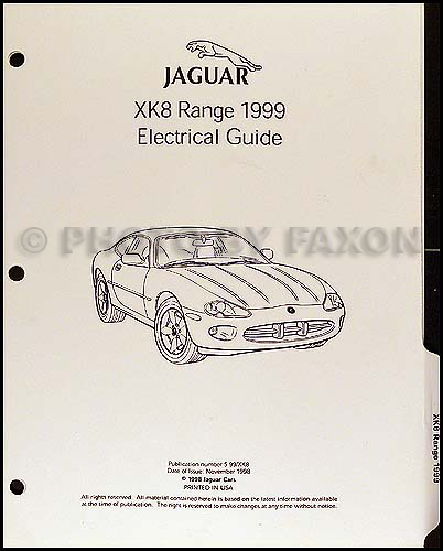 1999 Jaguar Xk8 Electrical Guide Wiring Diagram Original