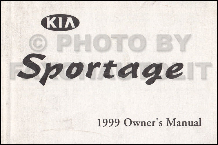 1999 Kia Sportage Owners Manual Original