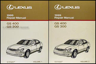 1999 Lexus GS 300/400 Repair Manual Original 2 Volume Set