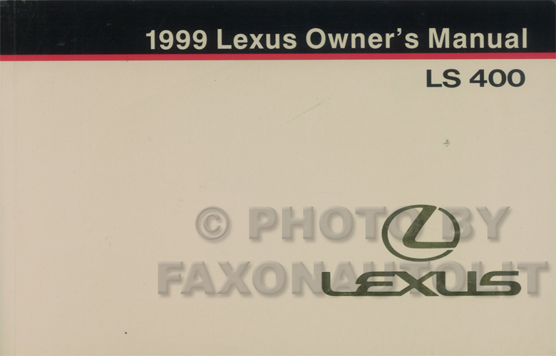 1999 Lexus LS 400 Owners Manual Original