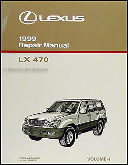 1999 Lexus LX 470 Repair Manual Volume 1 only Original