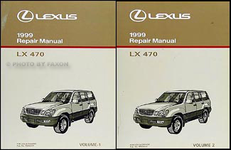 1999 Lexus LX 470 Repair Manual Original 2 Volume Set