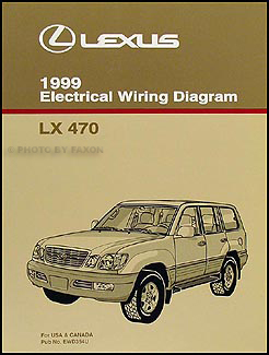 1999 Lexus LX 470 Wiring Diagram Manual Original