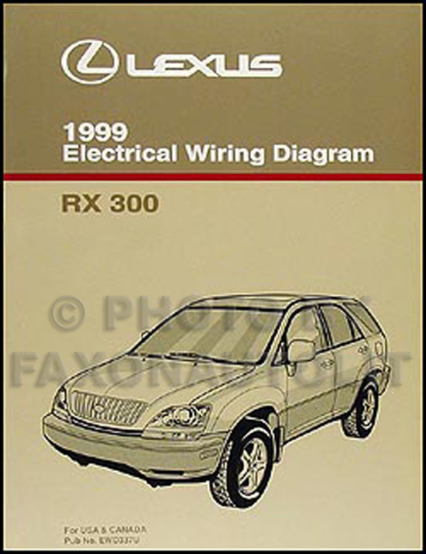 1999 Lexus RX 300 Wiring Diagram Manual OriginalFaxon Auto Literature