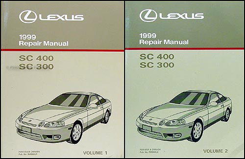 1999 Lexus SC 300 & SC 400 Repair Manual Original 2 Volume Set