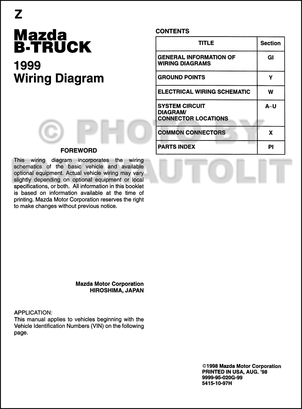 1999 mazda wiring diagram detailed schematics diagram rh  politicallyofftarget com 1999 mazda 626 radio wiring diagram