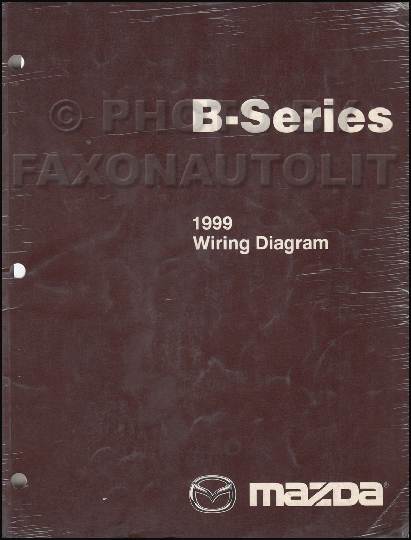 1999 Mazda Pickup Truck Repair Shop Manual Original B2500