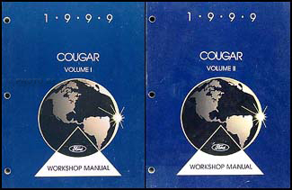 1999 Mercury Cougar Repair Manual Set Original