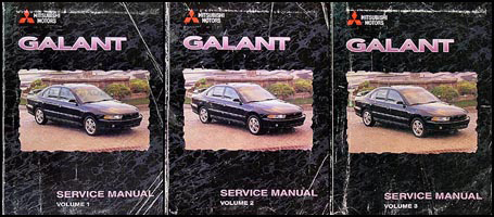 1999 Mitsubishi Galant Repair Manual 3 Volume Set Original