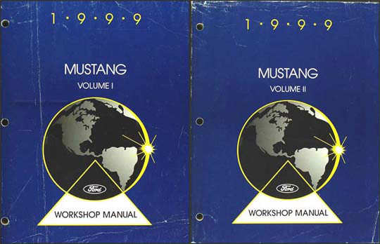 1999 Ford Mustang Shop Manual Original 2 Volume Set