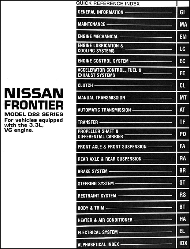 1999 Nissan Frontier Transmission Wire Diagram nissan ... on