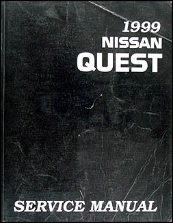1999 Nissan Quest Van Repair Manual Original