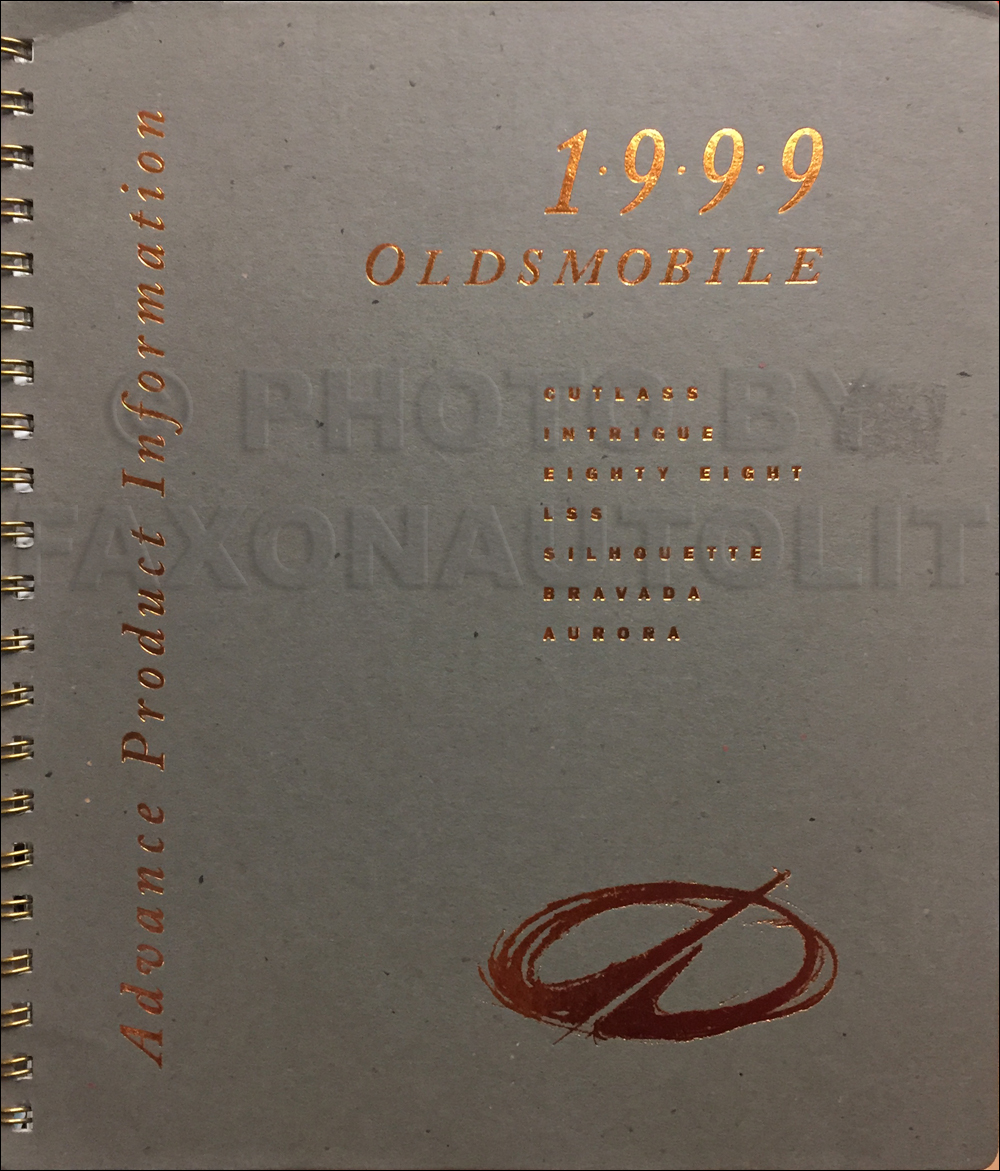 1999 Oldsmobile Advance Dealer Album Original Data/Color & Upholstery