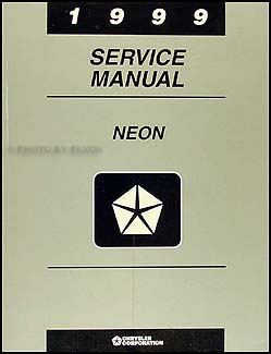 1999 Neon Shop Manual Original