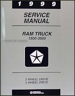 1999 Dodge Ram Truck Shop Manual Original 1500-2500-3500