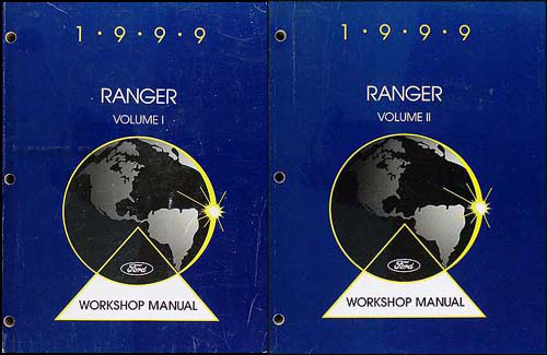 1999 Ford Ranger Repair Manual Original 2 Volume Set