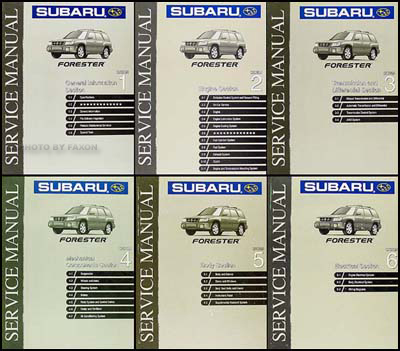 1999 Subaru Forester Repair Manual Original 6 Volume Set