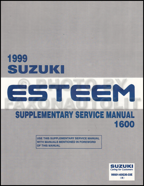 1998 2000 suzuki esteem wiring diagram manual original