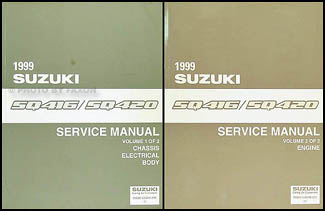 1999 Suzuki Vitara Repair Manual Set Original