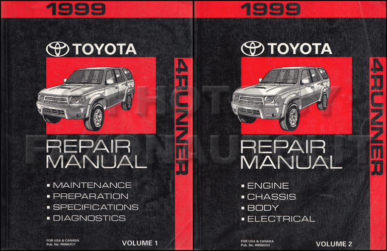 1999 toyota 4runner wiring diagram manual original rh faxonautoliterature com 1987 toyota 4runner service manual 1989 toyota 4runner service manual