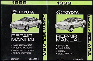 1999 Toyota Camry Solara Repair Manual Original Set