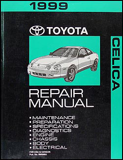 1999 Toyota Celica Repair Manual Original