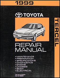 1999 Toyota Tercel Repair Manual Original 2 Vol. Set